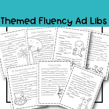 Ad Libs Fluency Enhancing BUNDLE