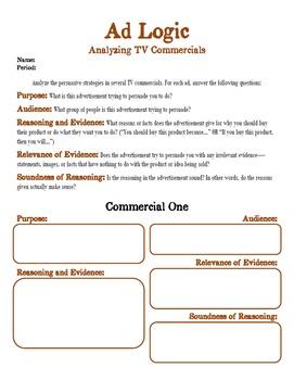 Ad Logic: Analyzing TV Commercials - PREZI Lesson Plan