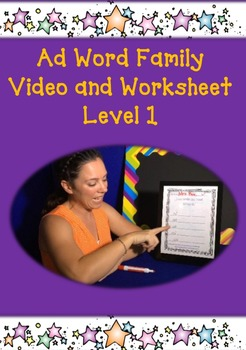 Ad Word Family: Video and Worksheet, Level 1