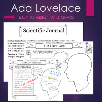 Ada Lovelace Biography Graphic Organizer Interactive Journal