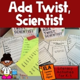 Ada Twist, Scientist:  Literacy Activities