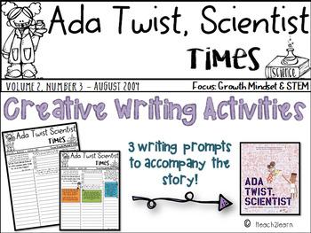 Growth Mindset: Ada Twist, Scientist Novel Study Creative Writing Activities