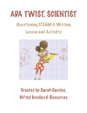 Ada Twist, Scientist Questioning STEAM & Writing Lesson and Activity
