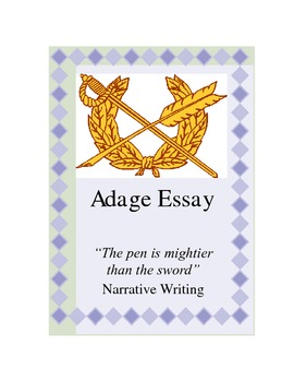 Adage Essay Instructions with Example