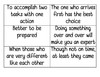 Adage Match Up Cards