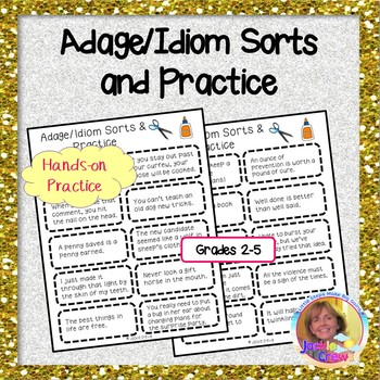 Adage and Idiom Sorts and Practice