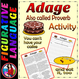 Adage or Proverb Writing Center Activity or Group Lesson CCS L4.5.b L5.5b