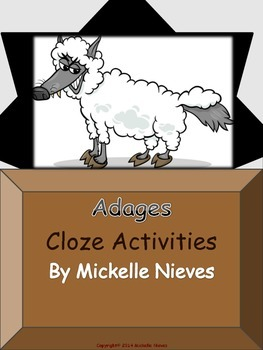 Adages: Cloze Activities