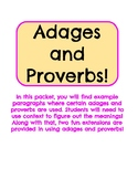 Adages & Proverbs!