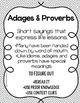 Adages & Proverbs: Activities and Poster for Upper Elementary