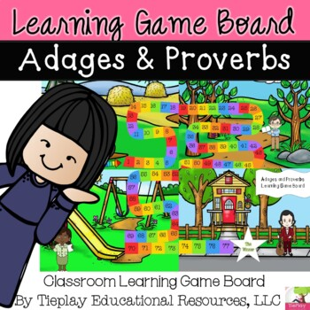 Adages and Proverbs Learning Game Board Center Station