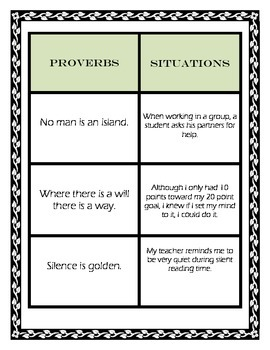Adages and Proverbs Activities