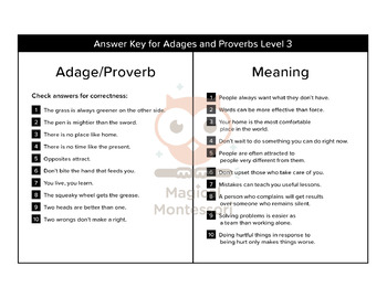 Adages and Proverbs Bundle
