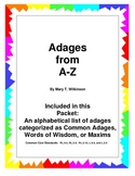 Adages from A-Z