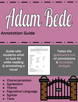 Adam Bede Annotation Guide