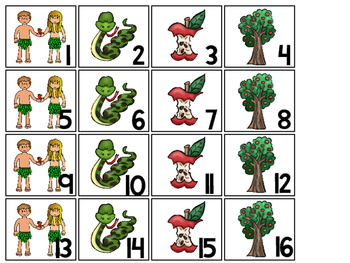 Adam and Eve Calendar pieces. Preschool-KDG Bible bulletin board.