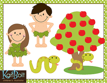 Adam and Eve Clip Art