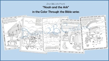 Noah and the Ark Coloring pages with scripture
