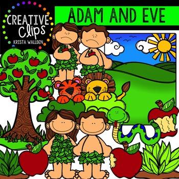 Adam and Eve {Creative Clips Digital Clipart}