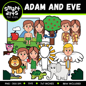 Adam and Eve Digital Clipart