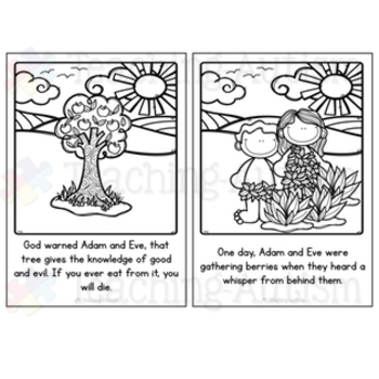 Adam and Eve Bible Story Flashcard Story