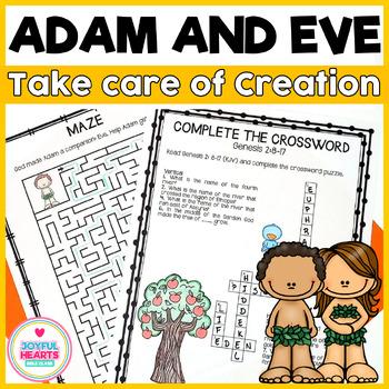 Adam and Eve - Take care of creation (English + Spanish)