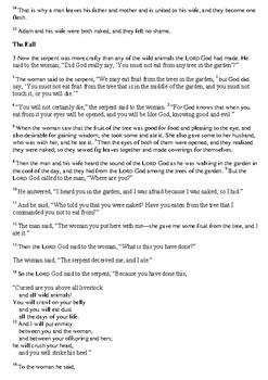 Adam and Eve Work Book