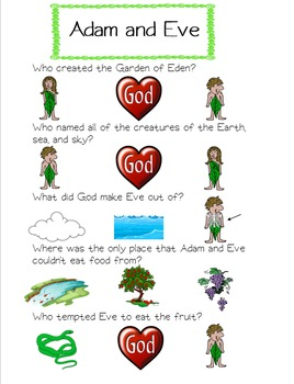 Adam and Eve Worksheet