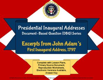 Adams' Inaugural Address - DBQ - PDF for Handouts