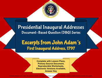Adams' Inaugural Address - DBQ - PPTX - Ready for 1-to-1 Devices
