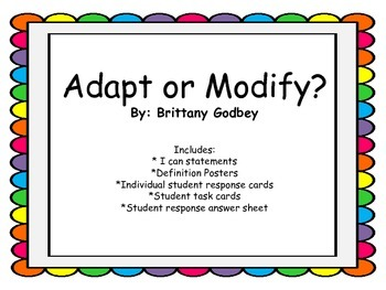 Adapt or Modify? Task Cards and More!