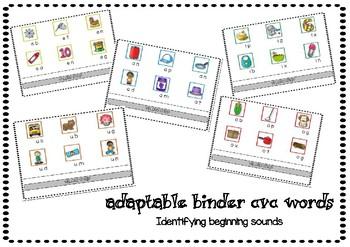 Adaptable Binder CVC Beginning Sounds