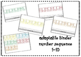 Adaptable Binder Number Sequence 1-10