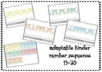 Adaptable Binder Number Sequence 11-20