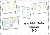 Adaptable Binder Numbers 1-10