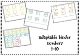 Adaptable Binder Numbers 1-10