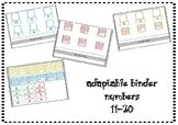 Adaptable Binder Numbers 11-20