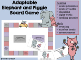 Adaptable Board Game Featuring Mo Willems' Elephant and Pi