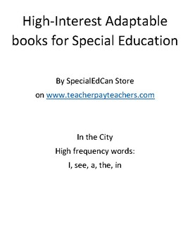 Adaptable Book for Special Education - In the City