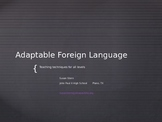 Adaptable Foreign Language Presentation/Tips/Info