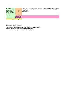 Adaptable Grading Rubric: 5 Criteria/ 5 Point