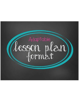 Adaptable Lesson Plan Format