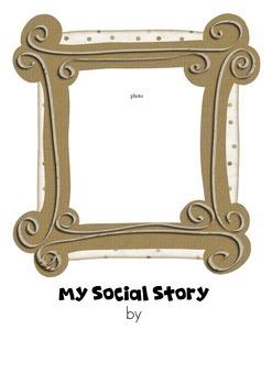 Editable Social Story - No Hitting Autism/pre school
