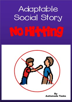 Editable Social Story - No Hitting Autism/pre school