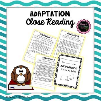 Adaptation Close Reading
