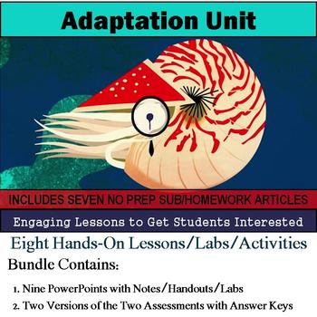 Adaptation Curriculum - Nine Lessons & Seven Literacy Articles
