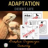 Adaptation Desert Life- Graphic Organizer Activity