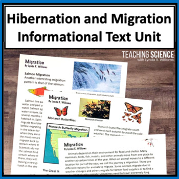 Adaptation: Hibernation and Migration NGSS LS4:C An Informational Text Unit
