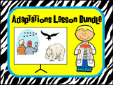 Adaptation Lesson Bundle including stations, cut and paste
