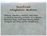 Adaptation Madness (Rainforest Activity like March Madness Basketball Bracket)